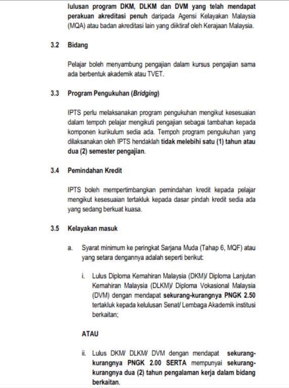 DKM/DVM boleh masuk IPTS